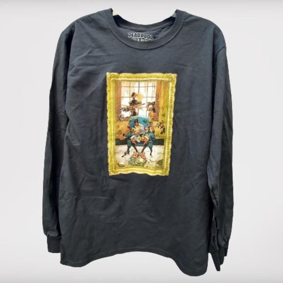 Marvel Deadpool Club Merc Black Longsleeve T-Shirt